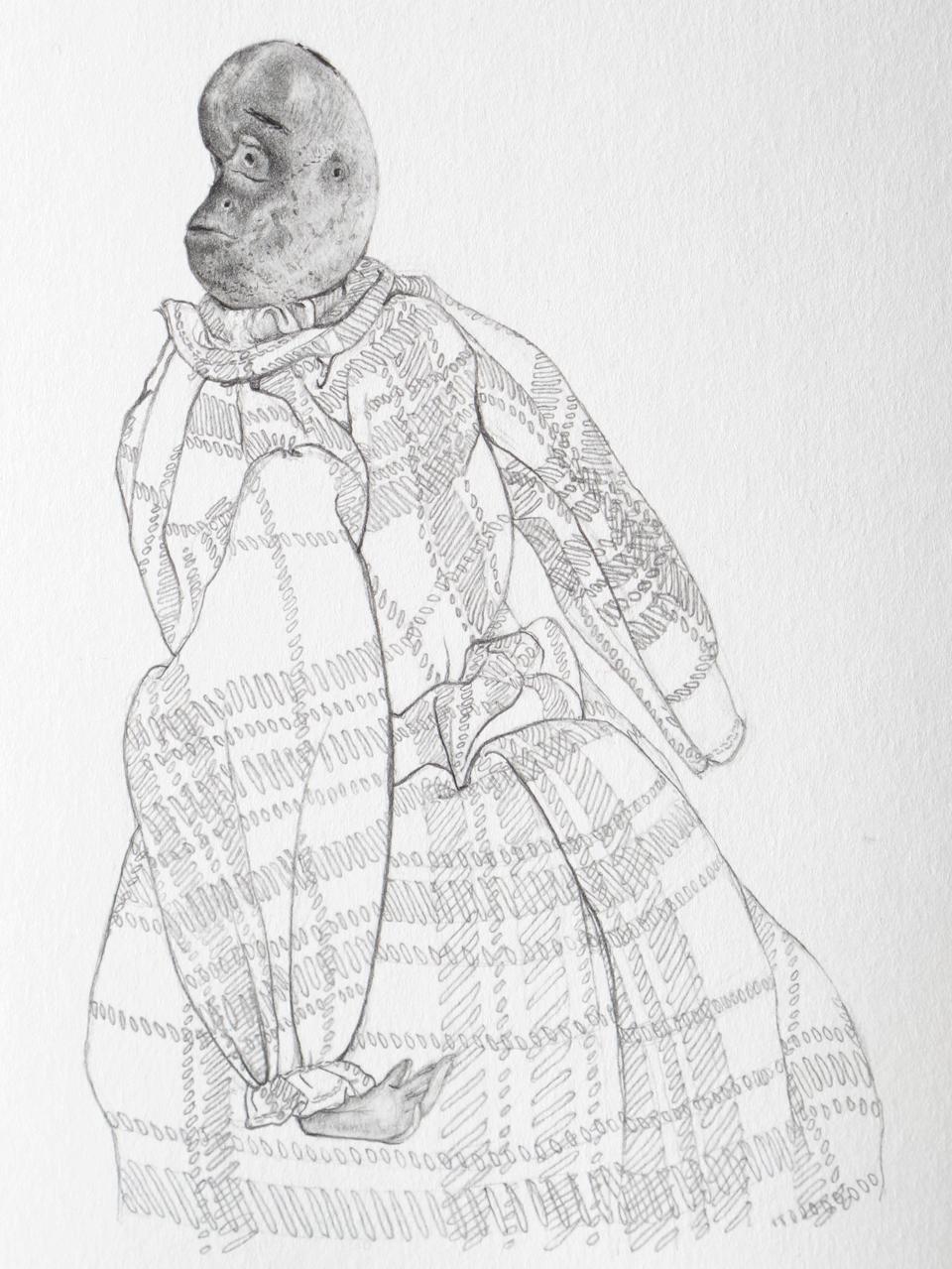 EIGHT BLOCKS OR A FIELD (Bean Doll), detail, 2013